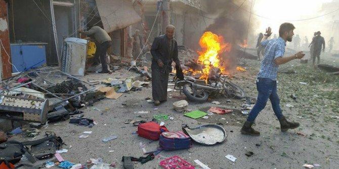 PKK/YPG Tel Abyad'da bomba yüklü araçla gerçekleştirdiği saldırıda 8 sivili katletti