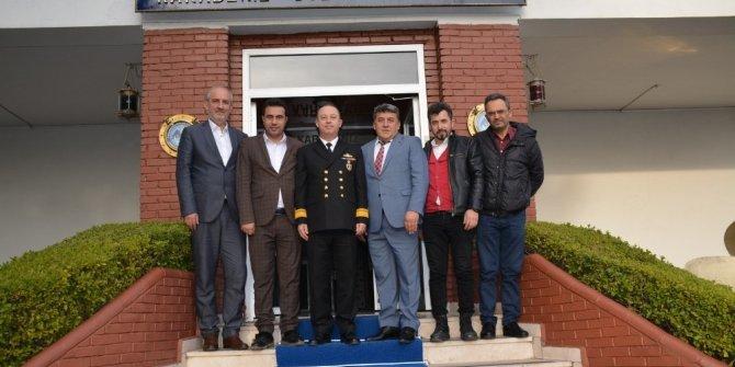 Gazeteciler Derneği Komutan Uyar'a nezaket ziyareti
