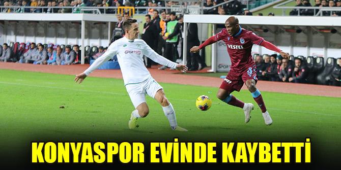 Konyaspor evinde Trabzonspor'a kaybetti