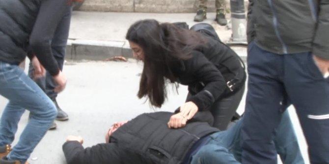 Şişli'de insanlık ölmemiş dedirten görüntü: Bir an olsun yanından ayrılmadı