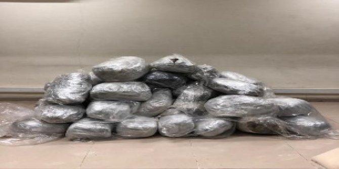 Gaziantep'te 221 kilogram esrar ele geçirildi