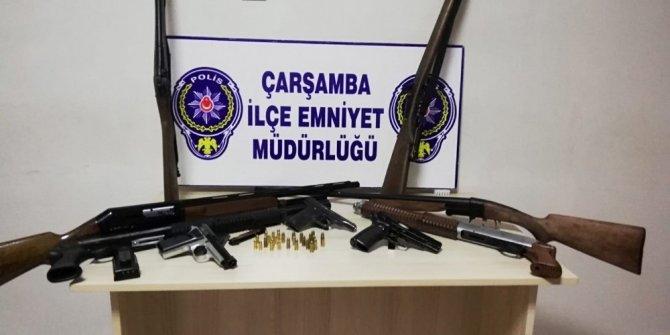 Çarşamba'da 'ruhsatız silah' operasyonu: 1 gözaltı