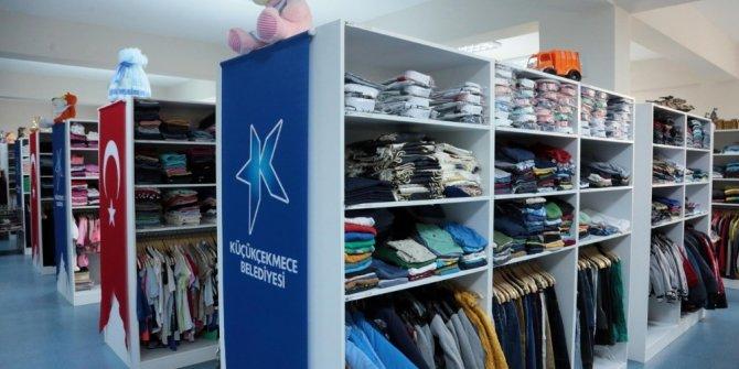 Küçükçekmece'de binlerce kişiye kıyafet yardımı
