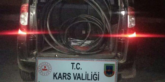 Sarıkamış'ta kablo hırsızlığı