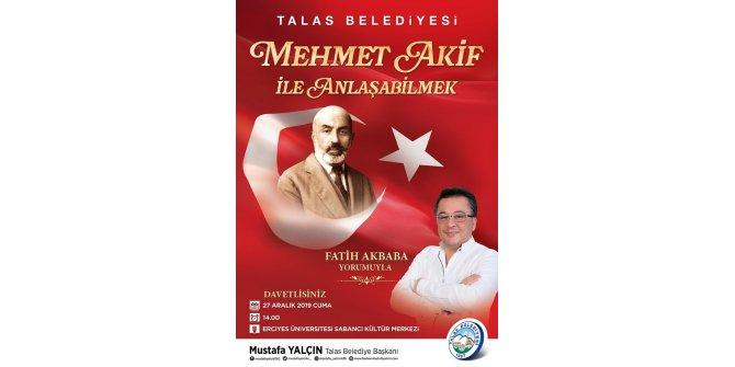 Talas Belediyesi'nden Mehmet Akif Ersoy Programı