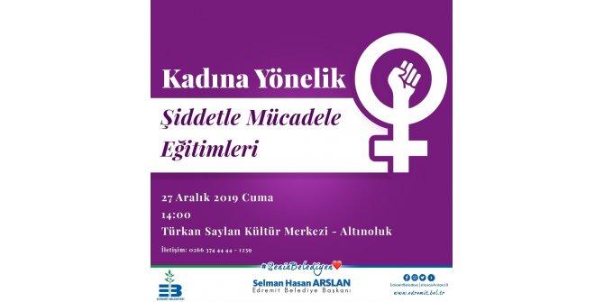 Kadına yönelik şiddetle mücadele için eğitim