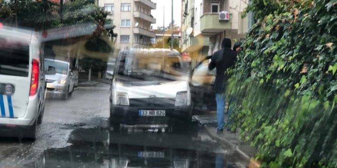 Park halindeki araç alev topuna döndü
