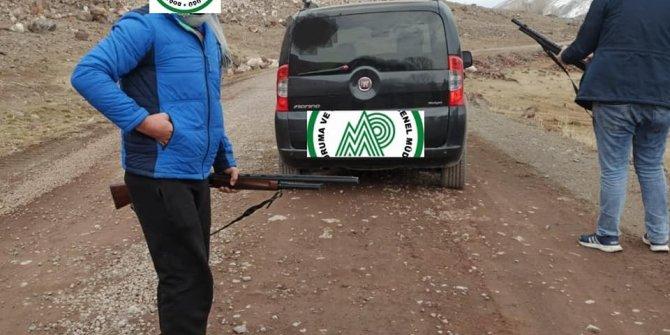 Iğdır'da kaçak avcılara para cezası kesildi