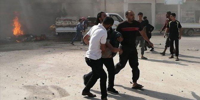 """MSB: """"Eli kanlı terör örgütü PKK/YPG, Fırat Kalkanı Harekatı bölgesindeki Cerablus ilçe merkezinde yine masum sivilleri hedef aldı. EYP yüklü iki motosikleti uzaktan kumanda ile patlatan teröristler, aralarında çocuklar"""