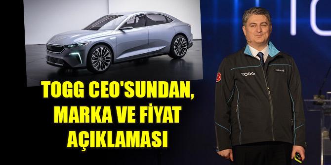 TOGG CEO'sundan, yerli otomobil markası için tarih ve fiyat açıklaması