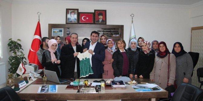 Hüyük'te HEM'in kadın kursiyerlerinden Başkan Çiğdem'e teşekkür ziyareti