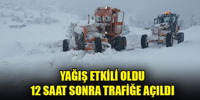 Konya-Antalya yolu 12 saat sonra trafiğe açıldı