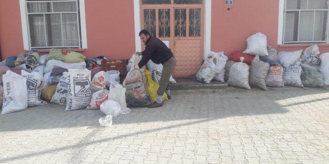 Mahalle sakinlerinden İdlib'e yardım