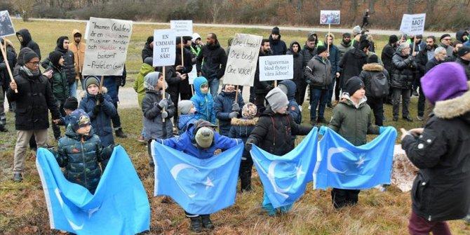 İsveç'te Çin'e Uygur protestosu