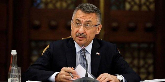 """Cumhurbaşkanı Yardımcısı Oktay'dan deprem için """"geçmiş olsun"""" mesajı"""