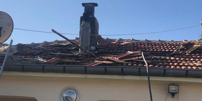 Kulu'da çatı yangını