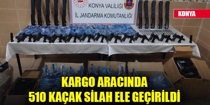 Konya'da kargo aracında 510 kaçak silah ele geçirildi