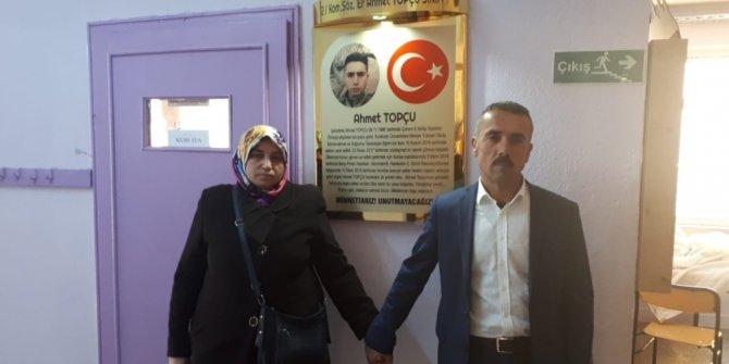 Barış Pınarı Harekâtı'nın ilk şehidi Ahmet Topçu'ya vefa