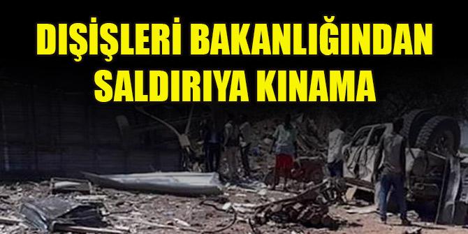 Dışişleri Bakanlığından Somali'deki Türk firmasına yapılan bombalı saldırıya kınama