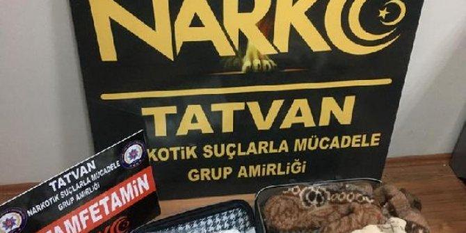 Tatvan'da 1 kilo 534 gram metamfetamin ele geçirildi