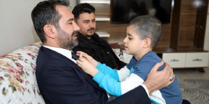 Cumhurbaşkanı Erdoğan'ın sahip çıktığı Taha'ya ziyaret