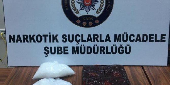 Şüphe üzerine durdurulan otomobilde 3 kilo uyuşturucu madde ele geçirildi