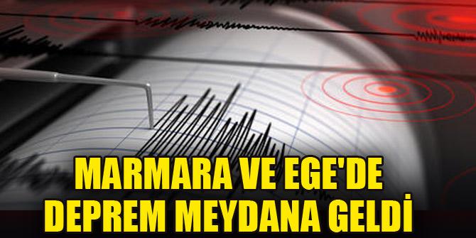 Marmara ve Ege'de deprem meydana geldi