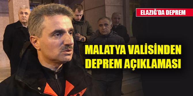 "Malatya Valisi: ""Malatya'daki depremde 5 vatandaşımızı kaybettik"""