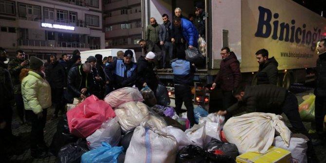 Trabzon, Ordu ve Giresun'dan depremzedelere yönelik yardım kampanyası