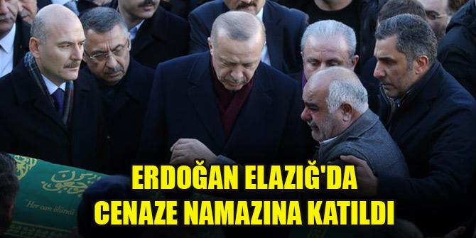 Cumhurbaşkanı Erdoğan Elazığ'da cenaze namazına katıldı