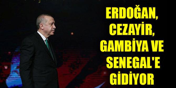 Cumhurbaşkanı Erdoğan, Cezayir, Gambiya ve Senegal'egidiyor