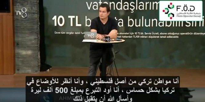 Filistinli vatandaştan Elazığ'a 500 bin TL bağış