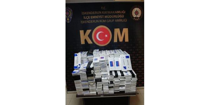Polisten kaçan araçtan 2 bin 730 paket kaçak sigara çıktı