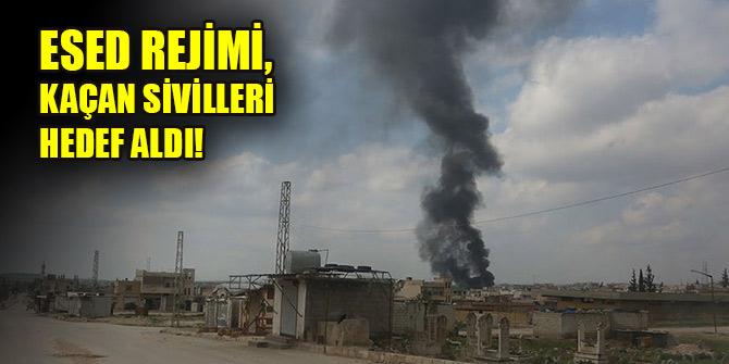 Esed rejimi, kaçan sivilleri hedef aldı: 7 ölü