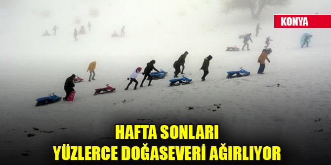 Konya'nın kayak merkezi hafta sonları yüzlerce doğaseveri ağırlıyor