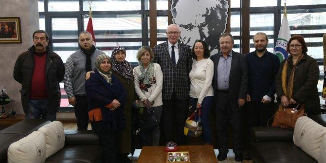 Çankaya Mahalle Meclisi üyelerinden Başkan Kazım Kurt'a ziyaret