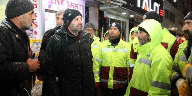 Elazığ'da karla mücadele