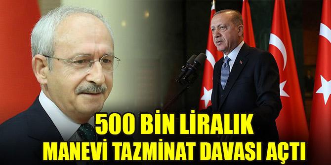 Erdoğan, Kılıçdaroğlu hakkında 500 bin liralık manevi tazminat davası açtı