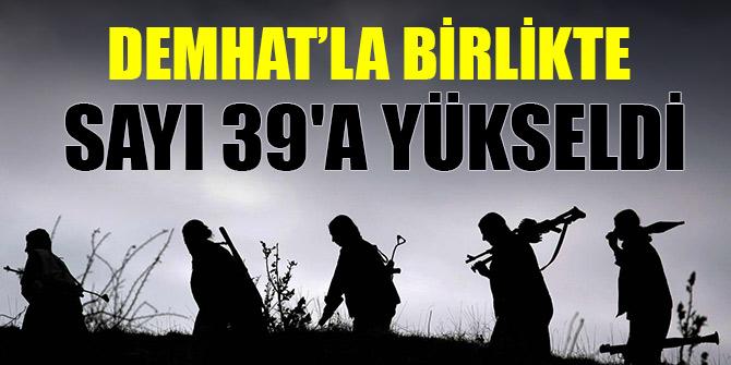 Bu yıl ikna yoluyla teslim olan terörist sayısı 39'a yükseldi