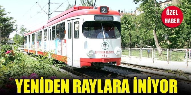Eski tramvaylar Konya'da yeniden raylara iniyor