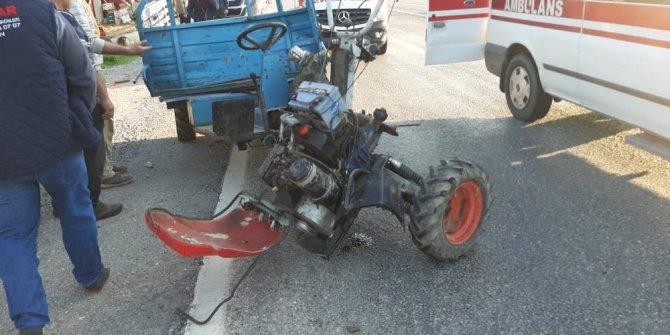 Otomobil ile çapa motoru çarpıştı; 2 yaralı