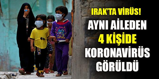 Irak'ın Kerkük kentinde aynı aileden 4 kişide koronavirüs görüldü