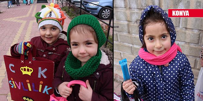 Konya'da çocukların üç aylar sevinci şivlilik