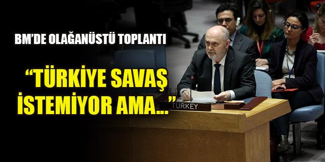 Sinirlioğlu: Türkiye savaş istemiyor ama...