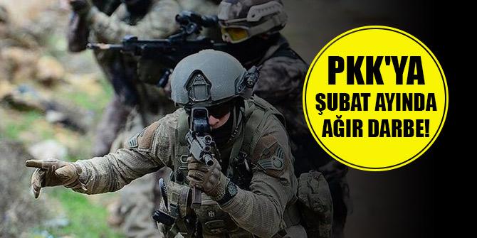 Terör örgütü YPG/PKK'ya şubat ayında ağır darbe vuruldu