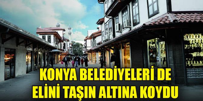 Konya belediyeleri de elini taşın altına koydu