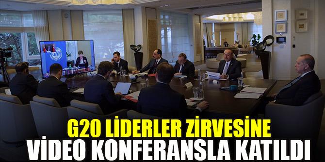 Erdoğan G20 liderler zirvesine video konferansla katıldı