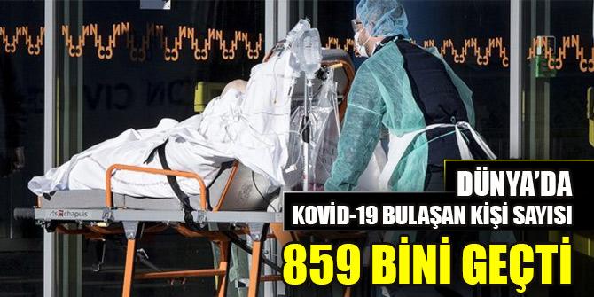 Dünya genelinde Kovid-19 bulaşan kişi sayısı 859 bini geçti