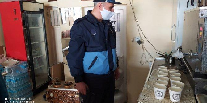 Beyşehir'de zabıtadan çay ocaklarına koronavirüs denetimleri