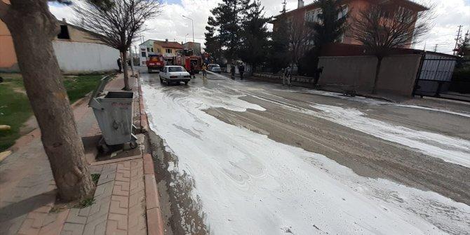 Ulaş'ta caddeler yıkandı